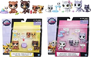 Littlest Pet Shop Cubby Hill Pack & Playful Kitties with 10 Pet & 10 Accessroies Bundle