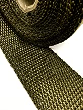 Titanium LAVA Exhaust heat header pipe wrap roll 2 INCH WIDE X 50 FEET LONG - Thermal Zero handles up to 3000° F - LV116250