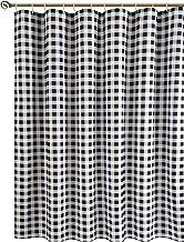 پرده دوش پارچه بافتی Biscaynebay ، پرده حمام طرح دار ، پلاستیک 72 در 72 اینچ سیاه و خاکستری