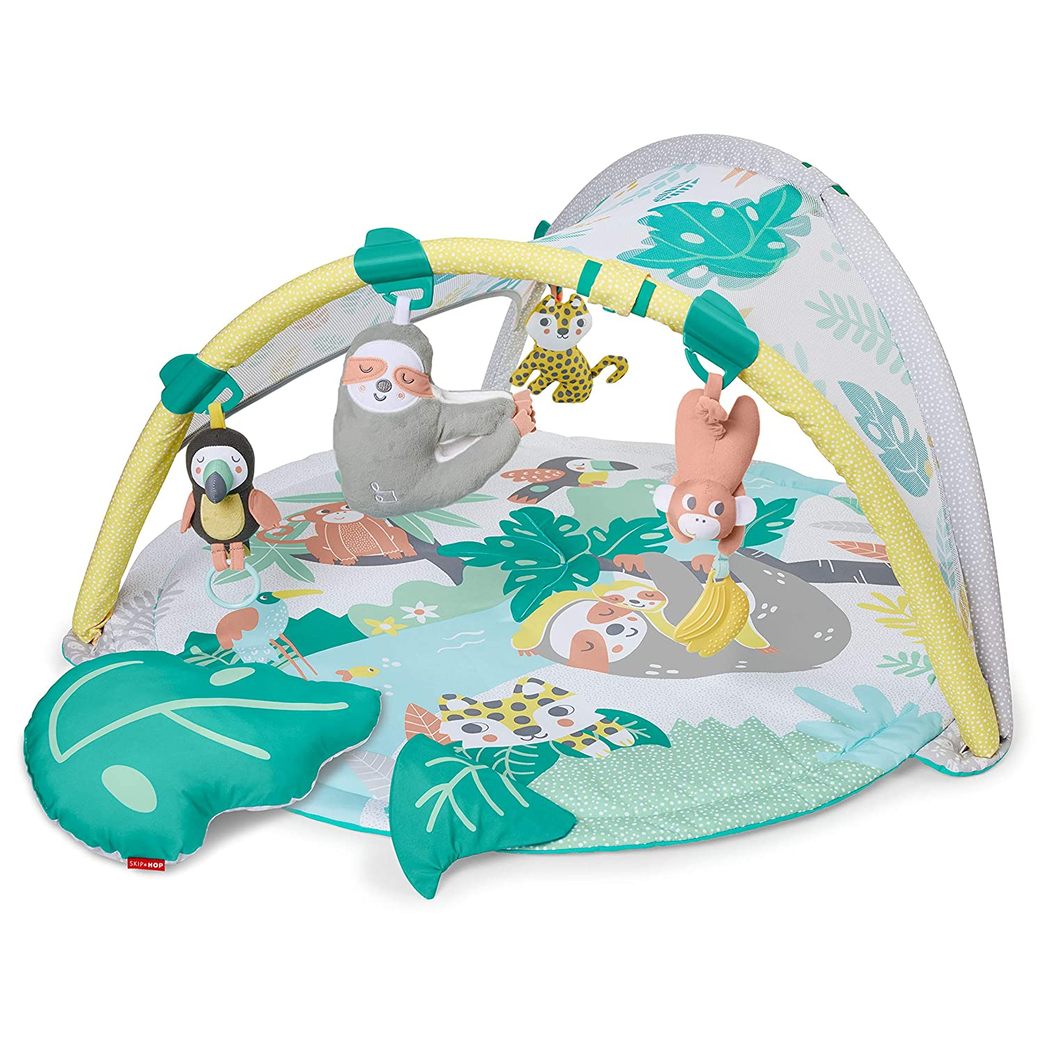 Skip Hop Baby Play Gym with Soother, Tropical Paradise, Green