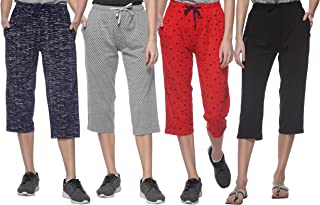 SHAUN Women's Cotton Capri (Pack of 4)