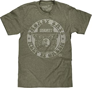 c422f895ee6 Tee Luv Smokey Bear T-Shirt - Keep It Green Retro Smokey Bear Shirt