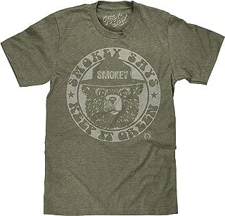 Tee Luv Smokey Bear T-Shirt - Keep It Green Retro Smokey Bear Shirt