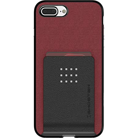 Ghostek Exec Magnetic iPhone 7 Plus, iPhone 8 Plus Wallet Case with Card Holder Slot Built-in Magnet is Perfect for Car Mount and Vent Mounts 2016 iPhone 7 Plus, 2017 iPhone 8 Plus (6.5 Inch) - (Red)