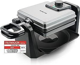 Draaibaar wafelijzer Emerio WM-110984 met 1000 watt voor Belgische wafels
