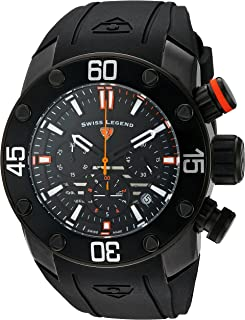 Men's 'Lionpulse' Quartz Stainless Steel and Silicone Watch, Color:Black (Model: 10616SM-BB-01-OA)