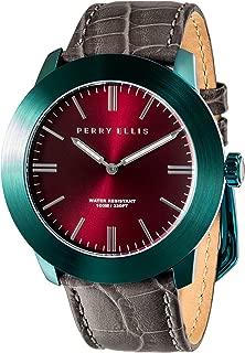 Men's Watch Slim Line Analog Quartz Watch with Genuine Leather Band Waterproof