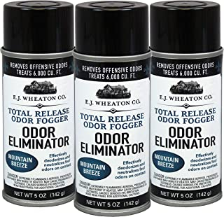 E.J. Wheaton Co. Odor Eliminator, Total Release Odor Fogger, 3 Pack, Effectively Deodorizes and Neutralizes Foul Odors on Contact, Mountain Breeze (5 OZ)�