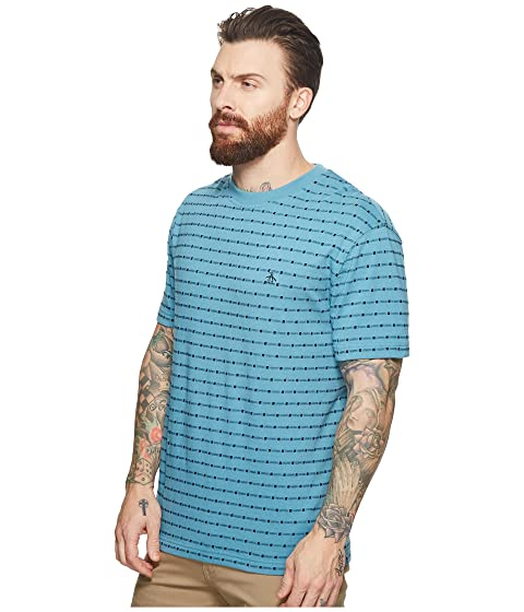 Original Penguin Jacquard Tee Storm Blue Cheap Find Great Discount Wholesale Price Free Shipping Visa Payment Discount Cheap Discount Outlet Locations wP8um6