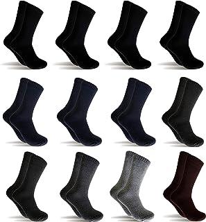 12 Pares Calcetines de invierno Hombre Mujer Calcetines térmicos(Multicolor)