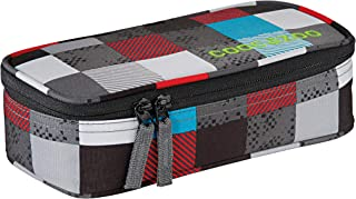 Coocazoo City and School PencilDenzel Schlamperetui 24 cm Checkmate Blue red