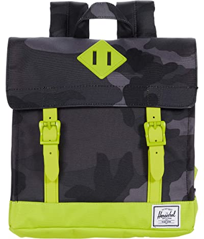 Herschel Supply Co. Kids Survey Square Backpack (Little Kids/Big Kids) (Night Camo/Lime Punch) Backpack Bags