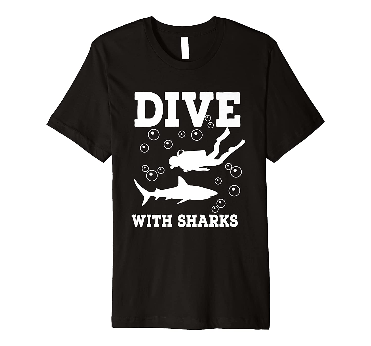 Dive with Sharks Premium T-Shirt