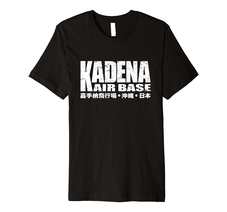 Kadena Air Base Usaf Okinawa Japan Kanji Premium T-shirt