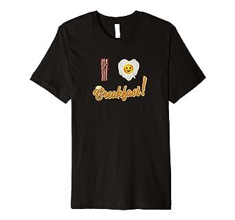 Bacon & Eggs, I Love Breakfast T-shirt