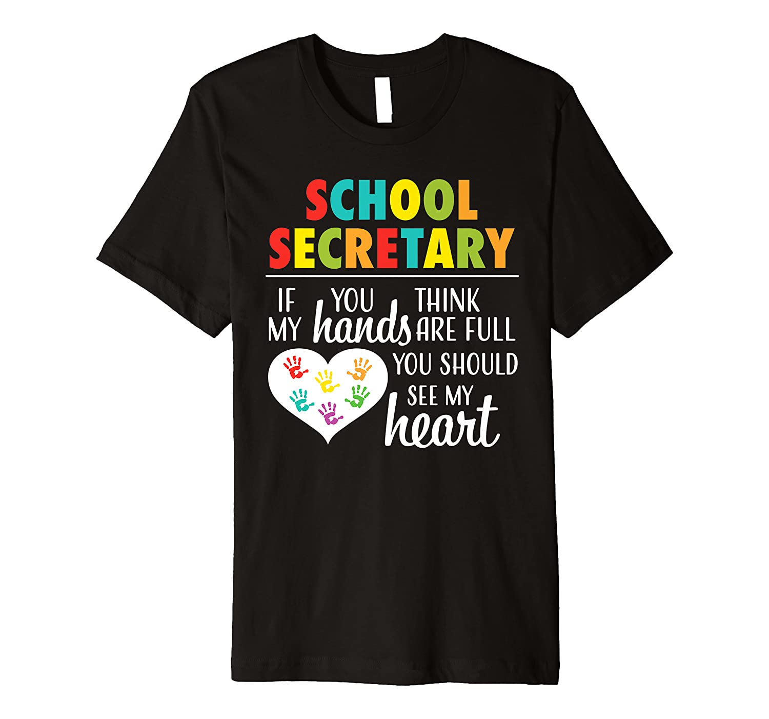 School Secretary Cute Office Clerk Appreciation Gift Shirt