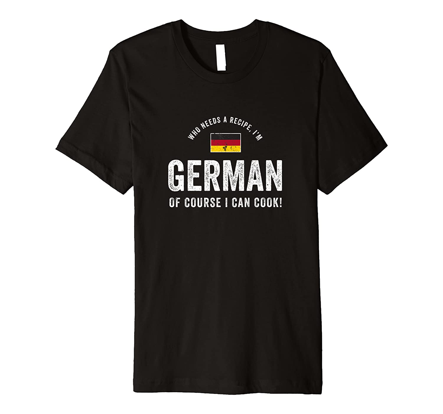 German Food Chef Flag Cute Funny Cooking T-shirt