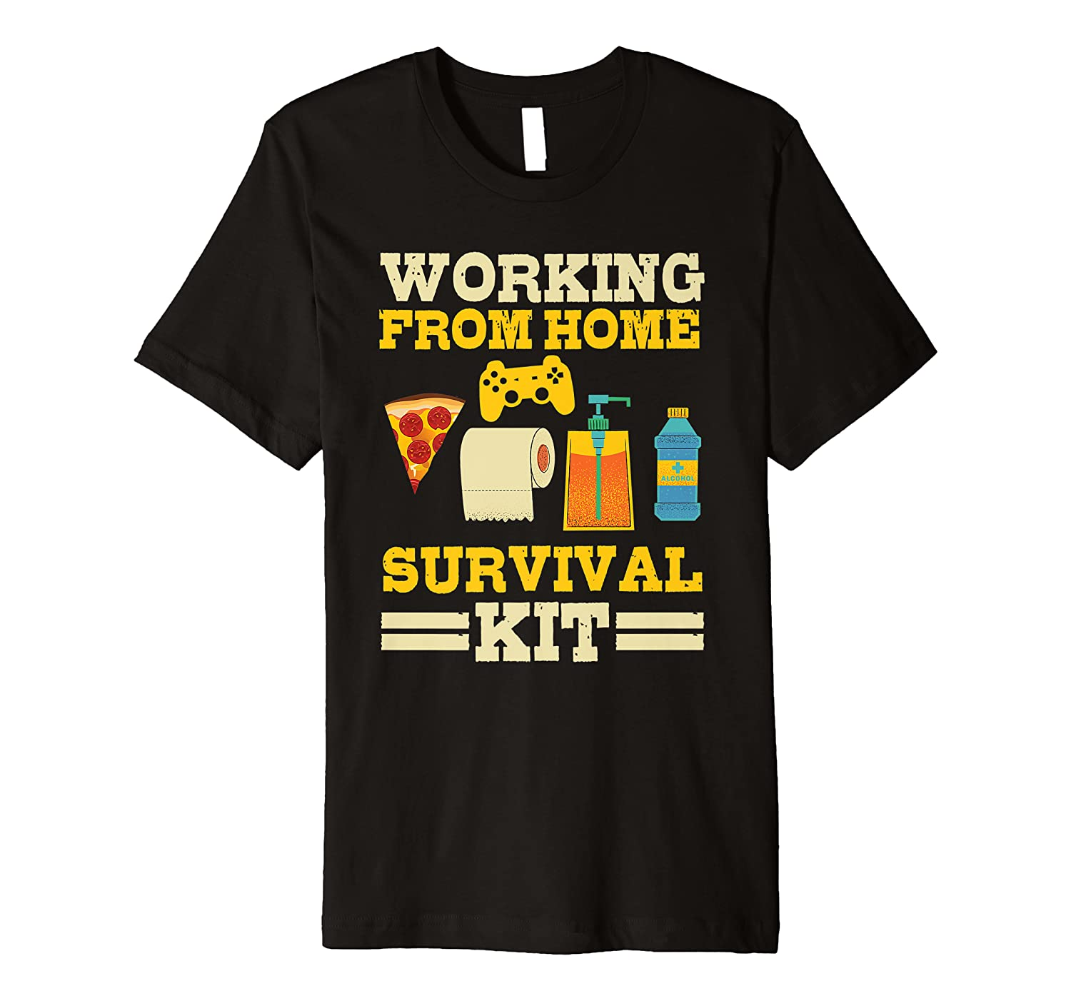 Working From Home Survival Kit | Funny Teleworking Office Premium T-Shirt