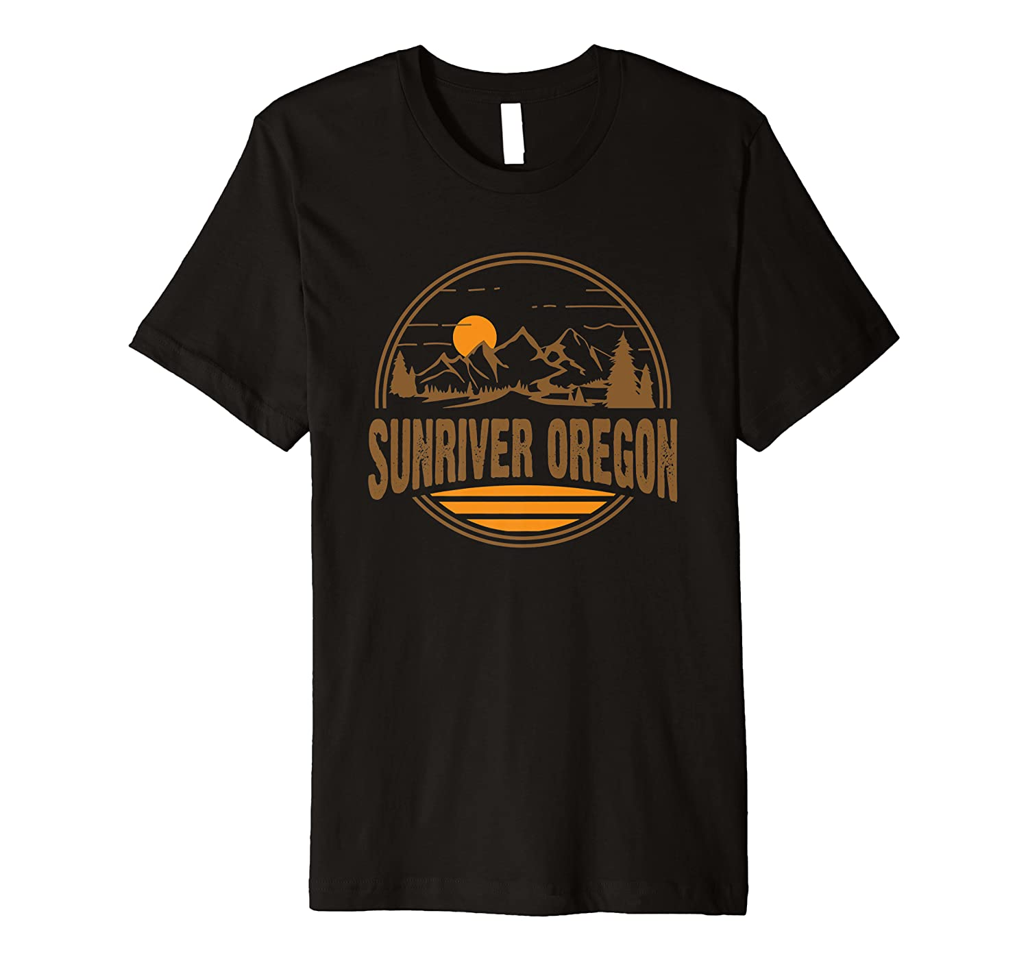 Vintage Sunriver, Oregon Mountain Hiking Souvenir Print Premium T-Shirt