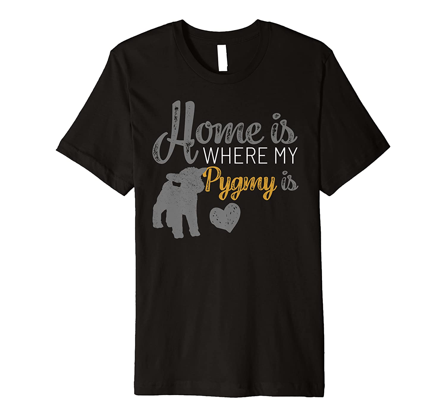 Home Is Where My Pygmy Goat is Tshirt Pygmy Goat Lovers Gift Premium T-Shirt