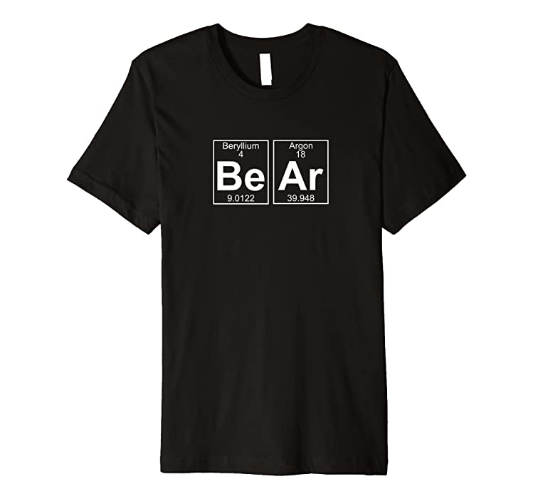 6e5a3d2d0b Bear Periodic Table - Gay Bear Pride T-Shirt: Amazon.co.uk: Clothing
