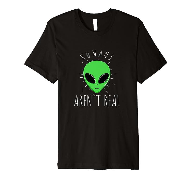 3637d48c3fc3 Amazon.com: Mens Alien T-Shirt Humans Aren't Real UFO Day Space: Clothing
