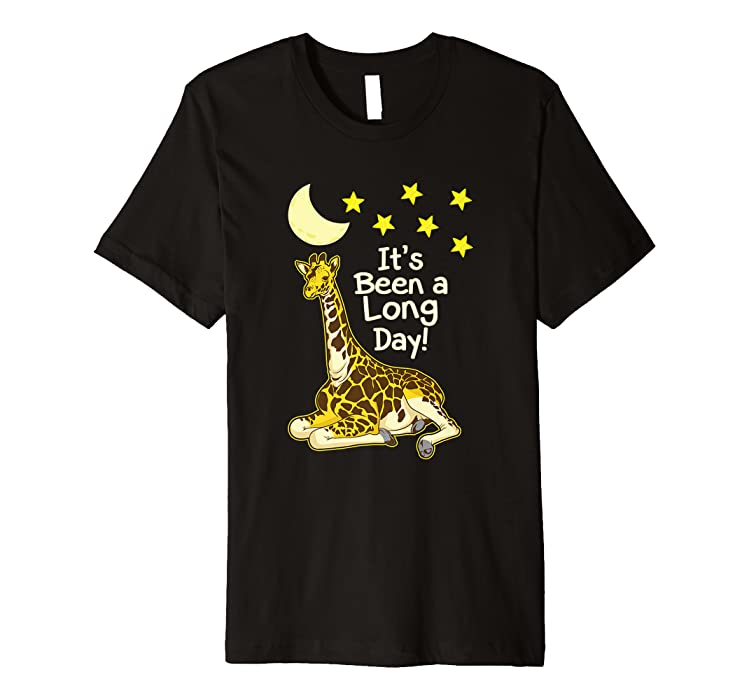bba82f2fa2 Amazon.com  Giraffe Night Shirt - Funny IT S BEEN A LONG DAY t-shirt   Clothing