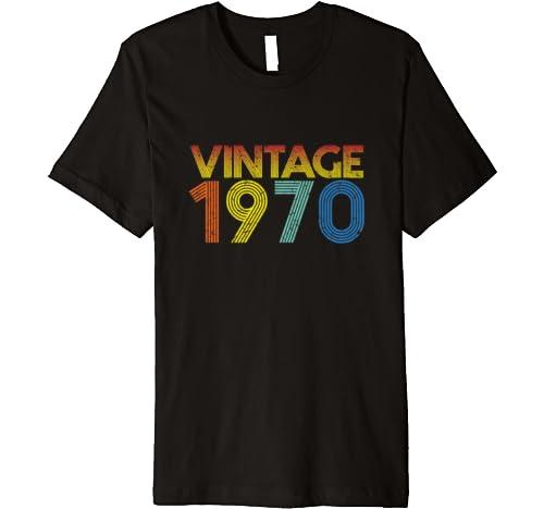 Vintage 1970 50th Birthday Gift For Men & Women 50 Years Old Premium T Shirt