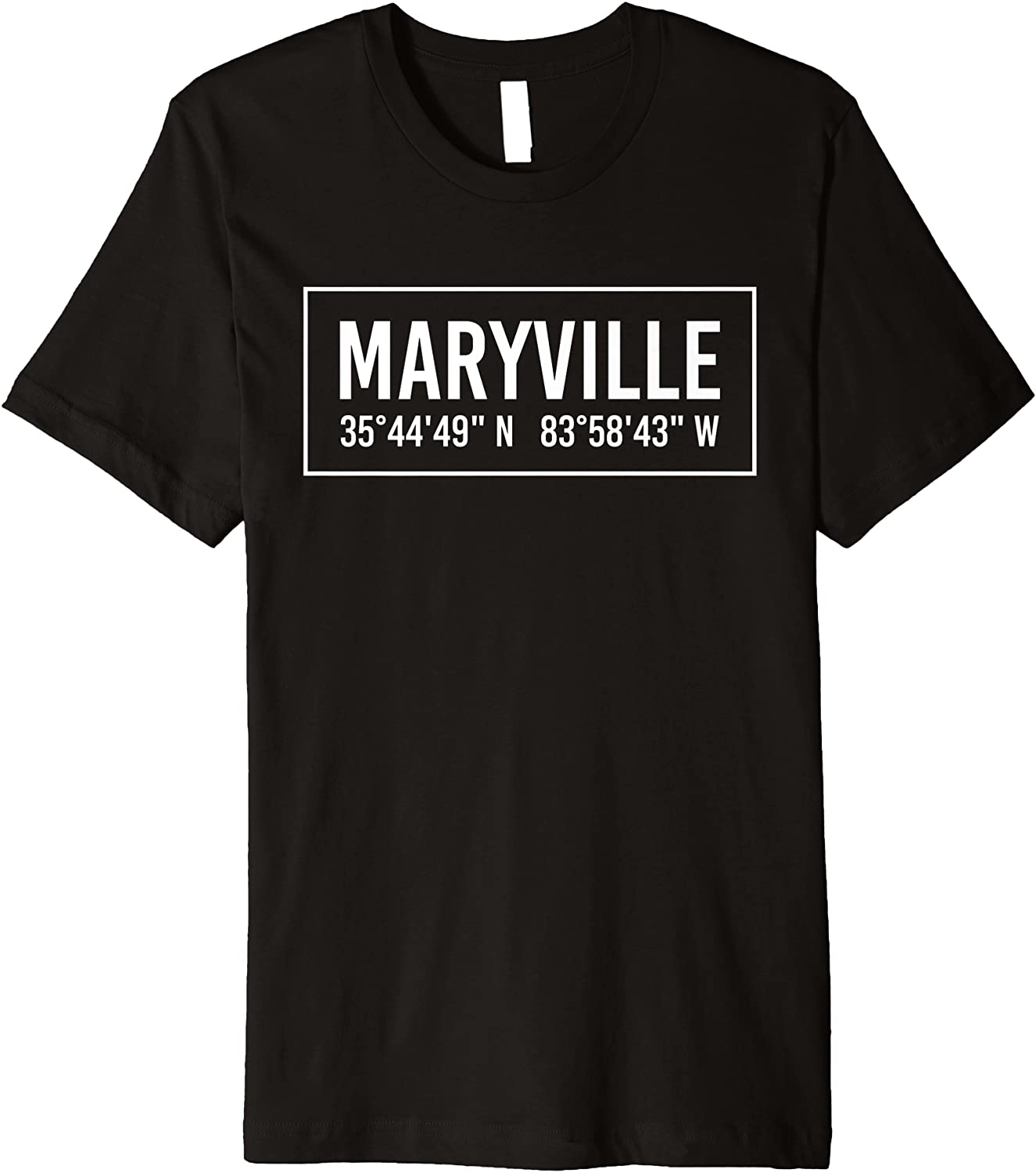 MARYVILLE TN TENNESSEE Funny City Coordinates Home Gift Premium T-Shirt