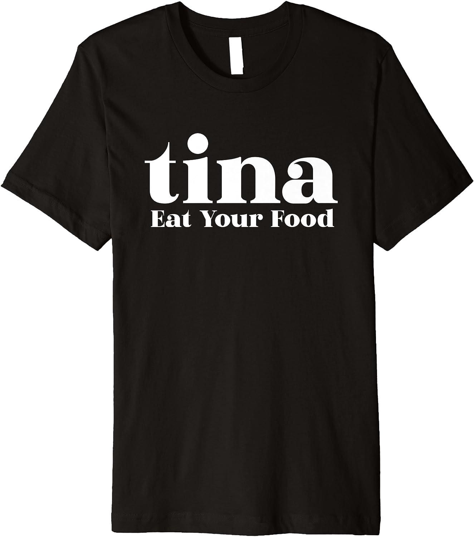 Eat Your Food Tina Llama Alpaca Premium T-Shirt