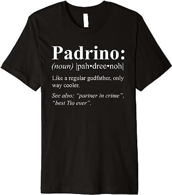 Amazon Com Camiseta Para Hombre Regalo Para Padrino De Bautismo Español Definición Padrino Premium Clothing
