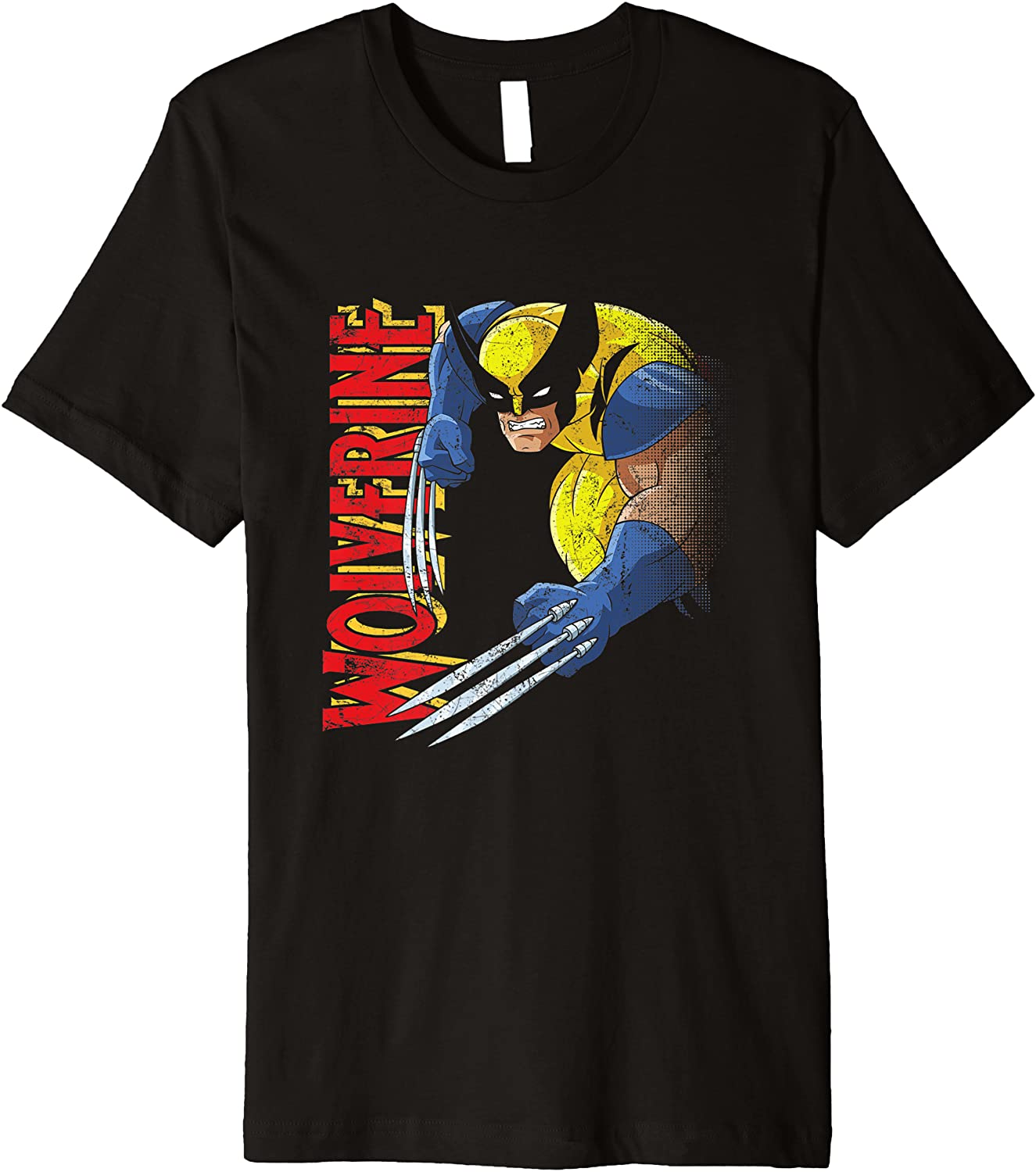 Marvel Super Courier shipping free shipping beauty product restock quality top X-Men Wolverine 90s Animated T-Shirt Premium Series