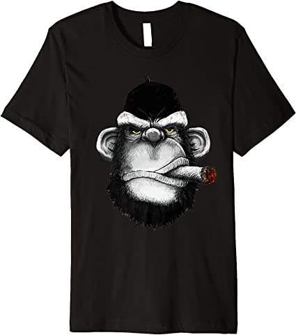 Smoking Monkey Short Sleeve Cycling Jersey Free Shipping
