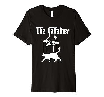 56c9006eb The Catfather Funny Cat T-Shirt Movie Parody Shirt: Amazon.co.uk: Clothing