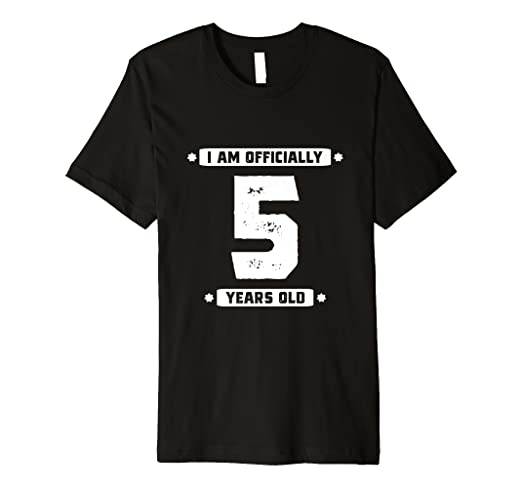 5th Birthday Shirt 5 Year Old Girls Age Gift Daughter