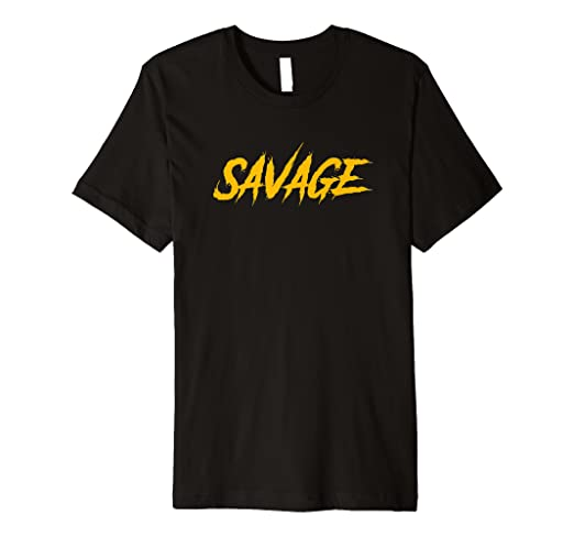 035f9a8cd08 Amazon.com  Black   Yellow Savage T-Shirt for Men   Women Savage ...