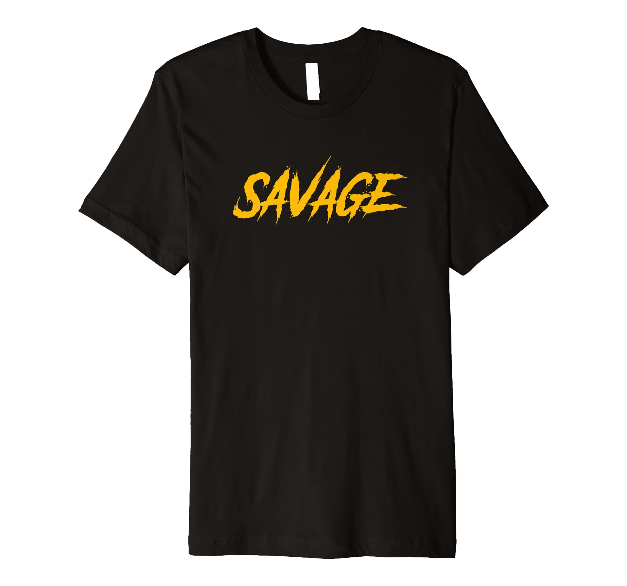 9a698be918b Amazon.com  Black   Yellow Savage T-Shirt for Men   Women Savage Gear   Clothing