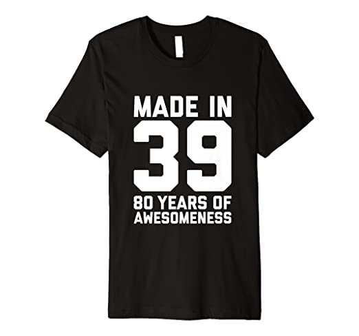 21ddbffa Image Unavailable. Image not available for. Color: 80th Birthday Tshirt  Women Men Age 80 Year Old Grandma Gifts
