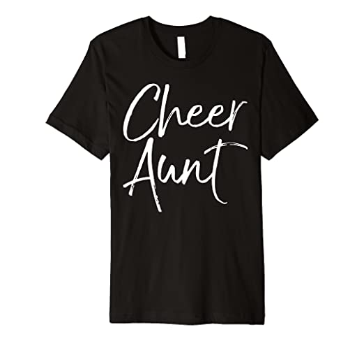 6a6bfbd5ef Image Unavailable. Image not available for. Color: Cheer Aunt Shirt Funny  Proud Cheerleader ...