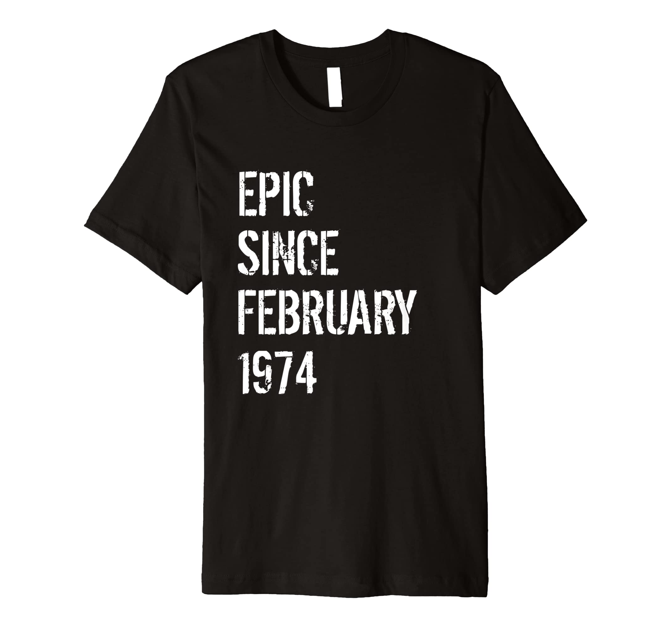 45th Birthday Gift Shirt Men Women Born In February 1974 Amazoncouk Clothing