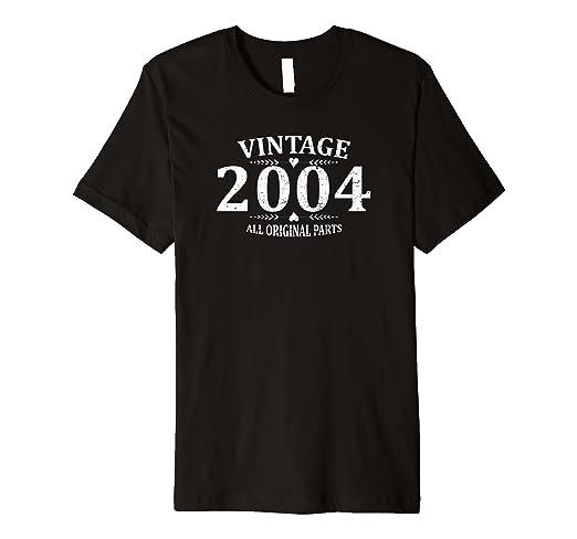 Amazon Funny Vintage 2004 15th Birthday Gift T Shirt Best Emoji