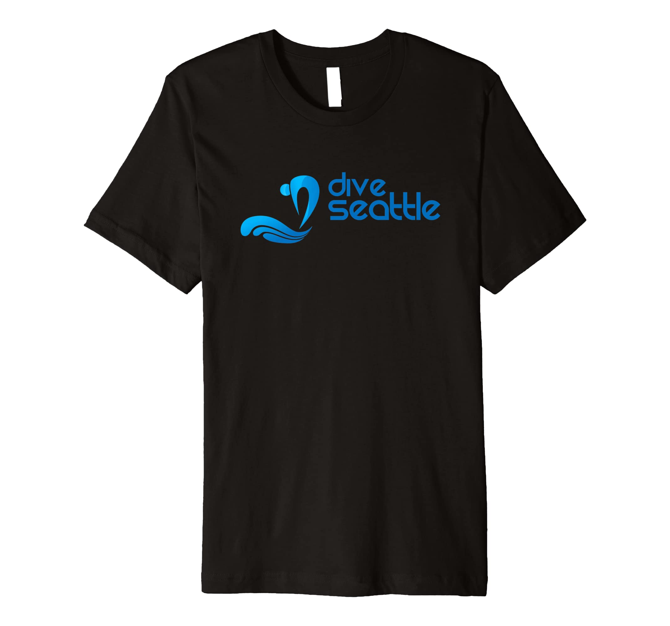 DiveSeattle LOGO Short Sleeve Premium T shirt-azvn