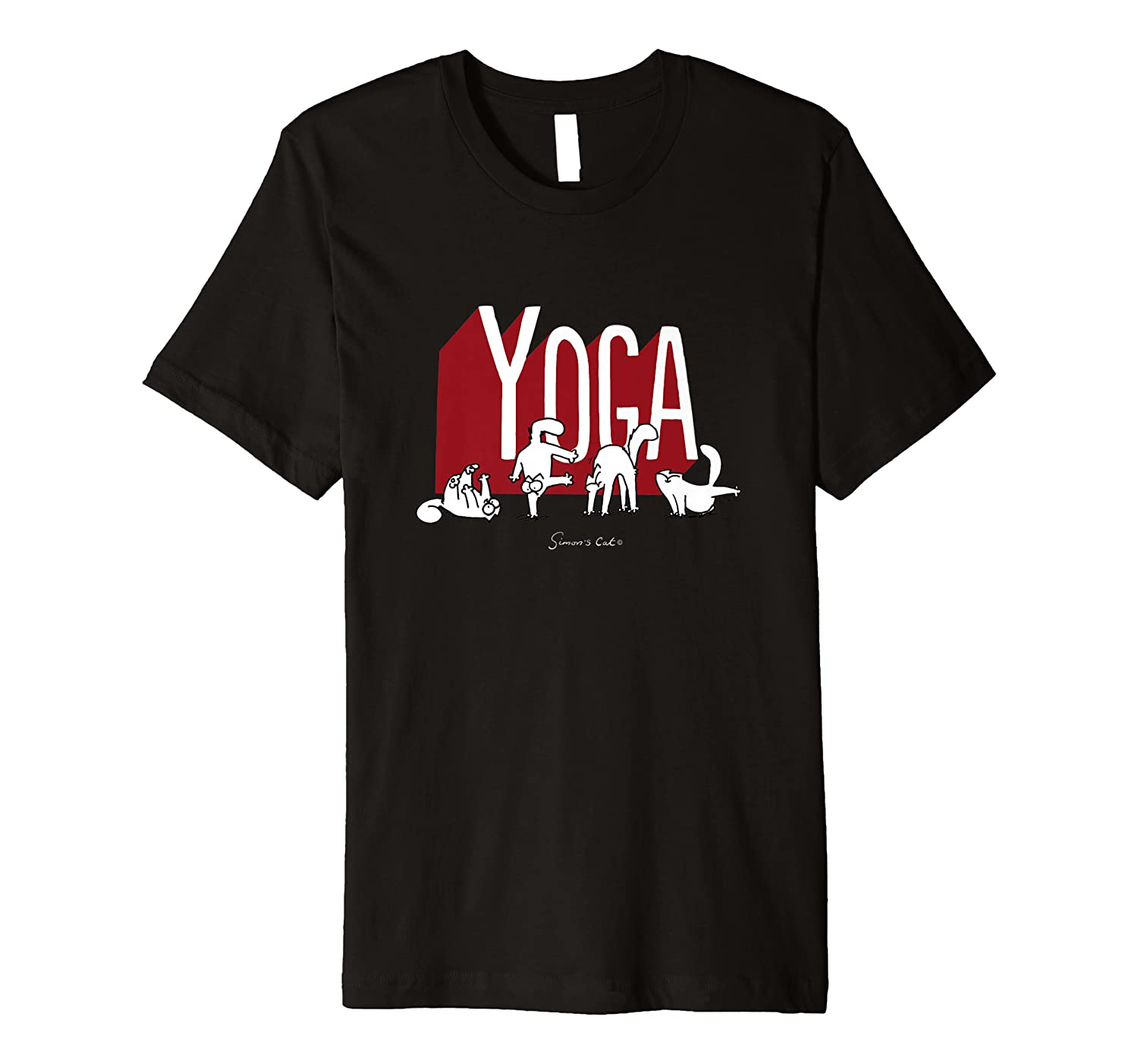 Offizielles Simon's Cat: Yoga T-shirt