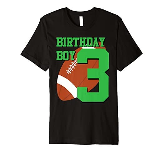 Image Unavailable Not Available For Color 3rd Birthday Football Boy Shirt