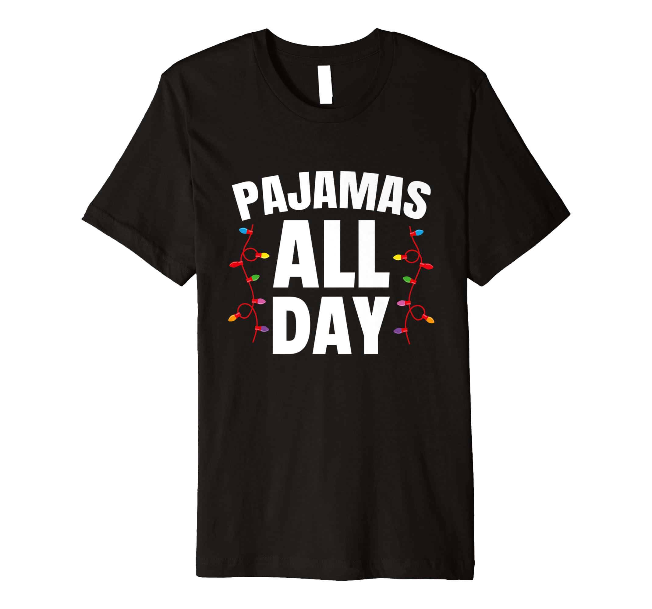 92d7ebb49b43 Amazon.com  Pajamas All Day Christmas Pajama T-Shirt PJ Jammy  Clothing