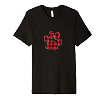 f461db12 Amazon.com: Red Plaid Paw Print Matching Buffalo Family Pajama T ...