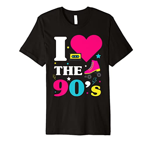 90er Jahre Outfit I Love The 90s Retro Oldschool Party Shirt Amazon