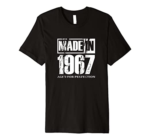 d9a4e37ca Image Unavailable. Image not available for. Color: Vintage Made In 1967 T- shirt Best 51st Birthday Gifts Tees