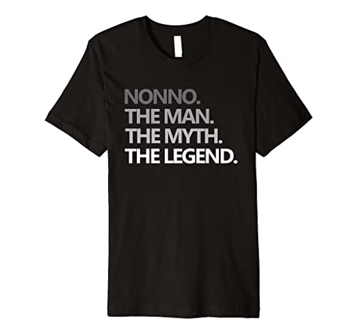 Amazon.com: Mens Christmas Gift For Men Nonno The Man Myth Legend T ...