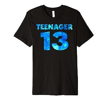 13 Geburtstag Geschenk 13 Jahriger Teenager Shirt Junge Amazon De